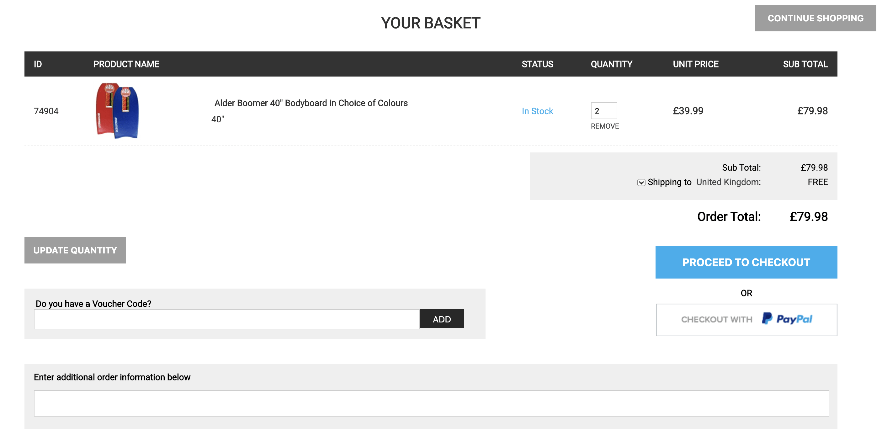 Basket - Add a Promo Code