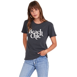 Amuse Society Beach Chic T-Shirt - Charcoal