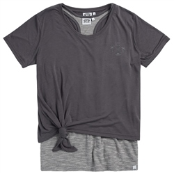 Animal Double Up Top - Grey
