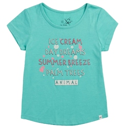 Animal Breezie T-Shirt - Turquoise Green Marl