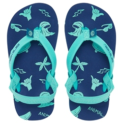 Animal Goofey Flip Flops - Nautical Blue