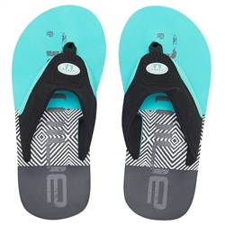 Animal Jekyl Logo Flip Flops - Pacific Blue