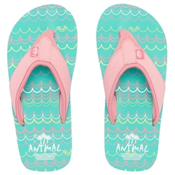 Animal Swish AOP Flip Flops - Turquoise Green