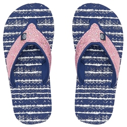 Animal Swish Glitz Flip Flops - Patriot Blue