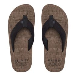 Animal Corky Flip Flops - Brown