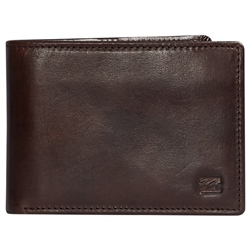 Billabong Vacant Leather Wallet - Chocolate