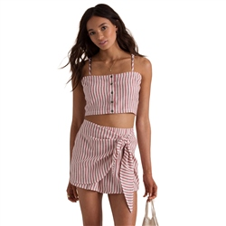 Billabong Straight To It Crop Top - Red Clay