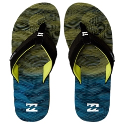 Billabong Dunes Resistance Flip Flops - Black Sea