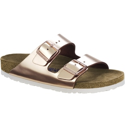 Birkenstock Arizona SFB Leather Sandals - Copper