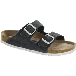 Birkenstock Arizona SFB Leather Sandals - Gun