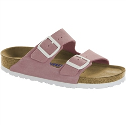 Birkenstock Arizona SFB Leather Sandals - Rose