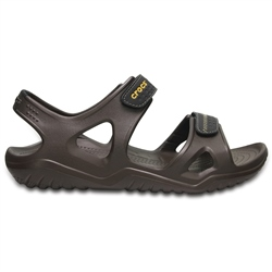 Crocs Swiftwater River Sandals - Espresso & Black