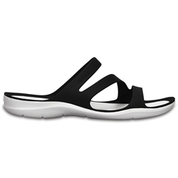 Crocs Swiftwater Sandals - Black & White
