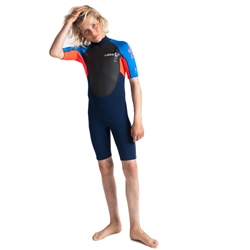 C-Skins Element 3/2mm Shorty Wetsuit - Navy & Red (2019)