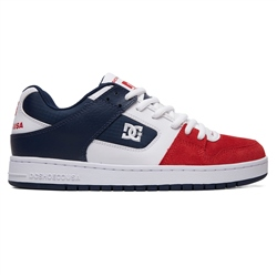 DC Shoes Manteca Shoes - White & Red