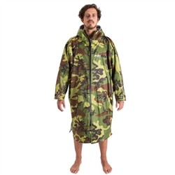 Dryrobe Small Long Sleeved Dry Robe - Camo & Grey