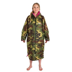 Dryrobe Small Long Sleeved Dry Robe - Camo & Pink