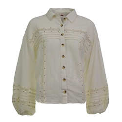 Free People Summer Star Shirt - Ivory