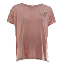 Free People Wipeout T-Shirt - Dusty Pink Combo