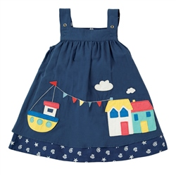 Frugi Rosemary Dress - Marine