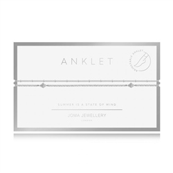 Joma Jewellery Double Chain Anklet - Silver