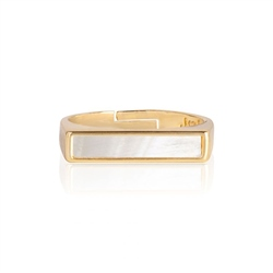 Joma Jewellery Shona Shell Ring  - Gold