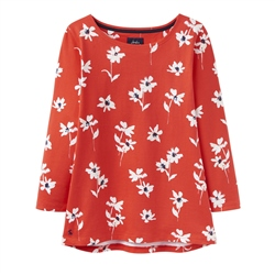 Joules Harbour Print T-Shirt - Red Daisy