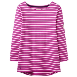 Joules Harbour T-Shirt - Pink & Cream