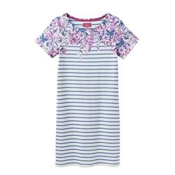 Joules Riviera Print Dress - Blue
