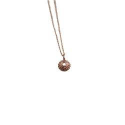 Me and the Sea Urchin Silver Necklace - Rose Gold