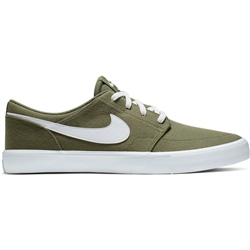 Nike SB Portmore II Canvas Shoes - Olive