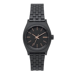 Nixon Small Time Teller Watch - Black & Gold