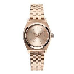Nixon Small Time Teller Watch - Rose Gold