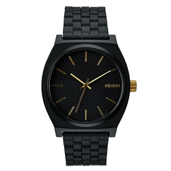Nixon Time Teller Watch - Matte Black & Gold