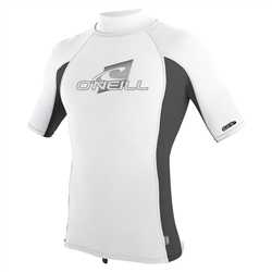 O'Neill Skins Turtle Rash Vest - White & Oil