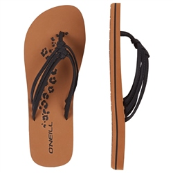 O'Neill 2 Strap Disty Flip Flops - Black