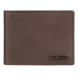 Quiksilver New Classical Plus III Leather Wallet  - Chocolate Brown