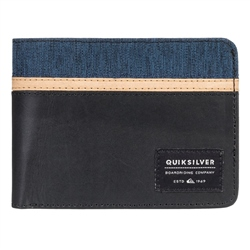 Quiksilver Reef Break Leather Wallet  - Black