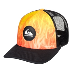 Quiksilver Bright Learnings Trucker Cap - Orange