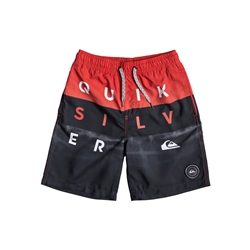 Quiksilver Word Block Volley Shorts - High Risk Red