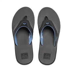 Reef Fanning Flip Flops - Grey & Blue