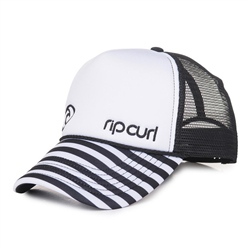 Rip Curl Hotwire Trucker Cap - Black & White