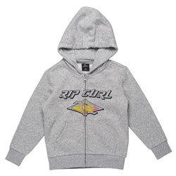 Rip Curl Slant Zipped Hoody Groms  - Cement Marle