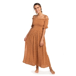 Rip Curl Club Havana Dress - Brown