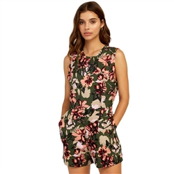 RVCA Tucked In Playsuit - Green