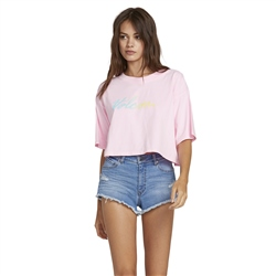 Volcom Neon and On T-Shirt - Pink