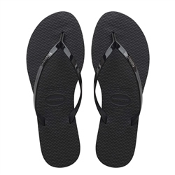 Havaianas You Metallic Flip Flops - Black