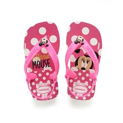 Havaianas Minnie Mouse Flip Flops - White & Pink