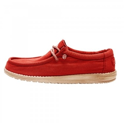 Hey Dude Shoes Wally Washed Shoes - Red