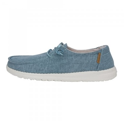 Hey Dude Shoes Wendy Chambray Shoes - Blue